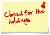 Music Hub office closed for the holidays