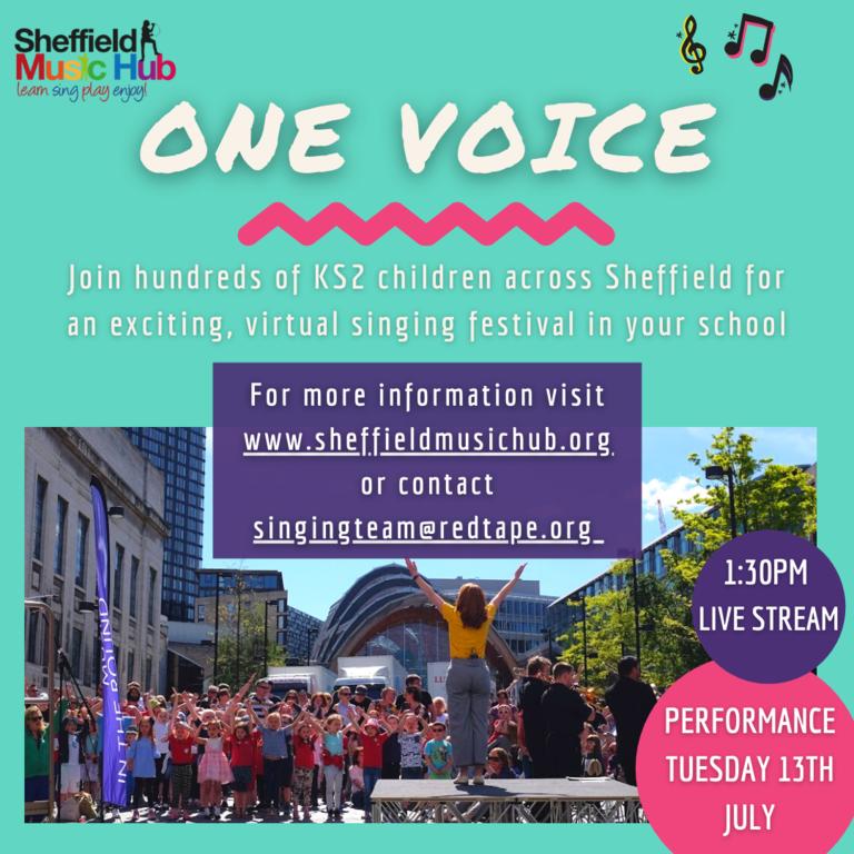 ONE VOICE Singing Festival | Sheffield Music Hub